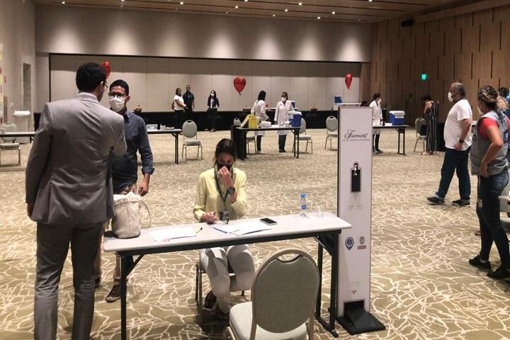 Fairmont Rio - ponto de vacinação (2)